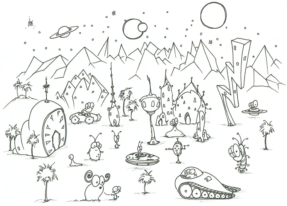 alien coloring pages 14,printable,coloring pages