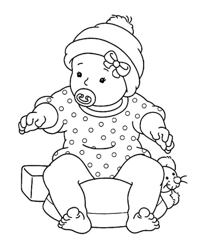 baby coloring page to print,printable,coloring pages