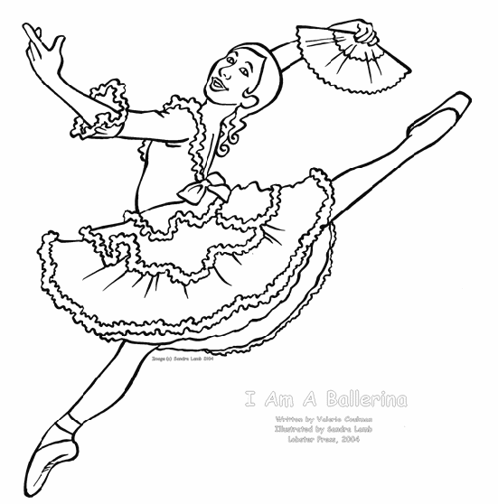 ballet coloring page,printable,coloring pages