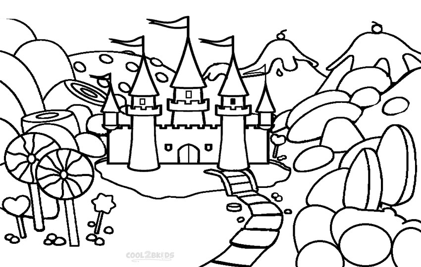 candyland coloring page to print,printable,coloring pages