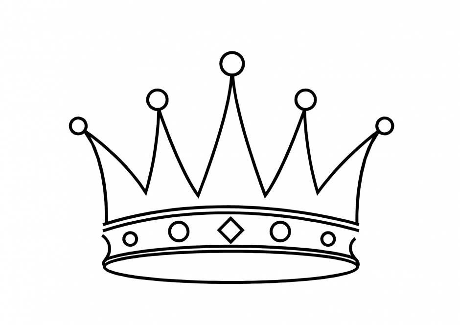 15 crown coloring page to print Print Color Craft