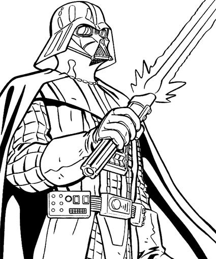 Coloring Pictures Darth Vaderprintablecoloring Pages
