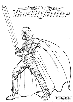 Printable Coloring Pages Darth Vader Coloring Pages