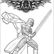 Star Wars Darth Vader and Luke Coloring Pages | 220x220