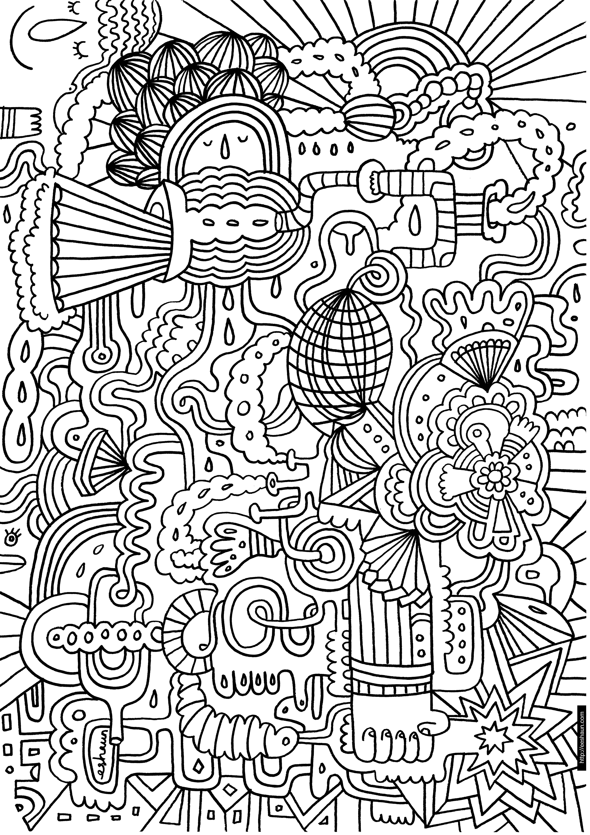 16 printable difficult coloring pages print color craft