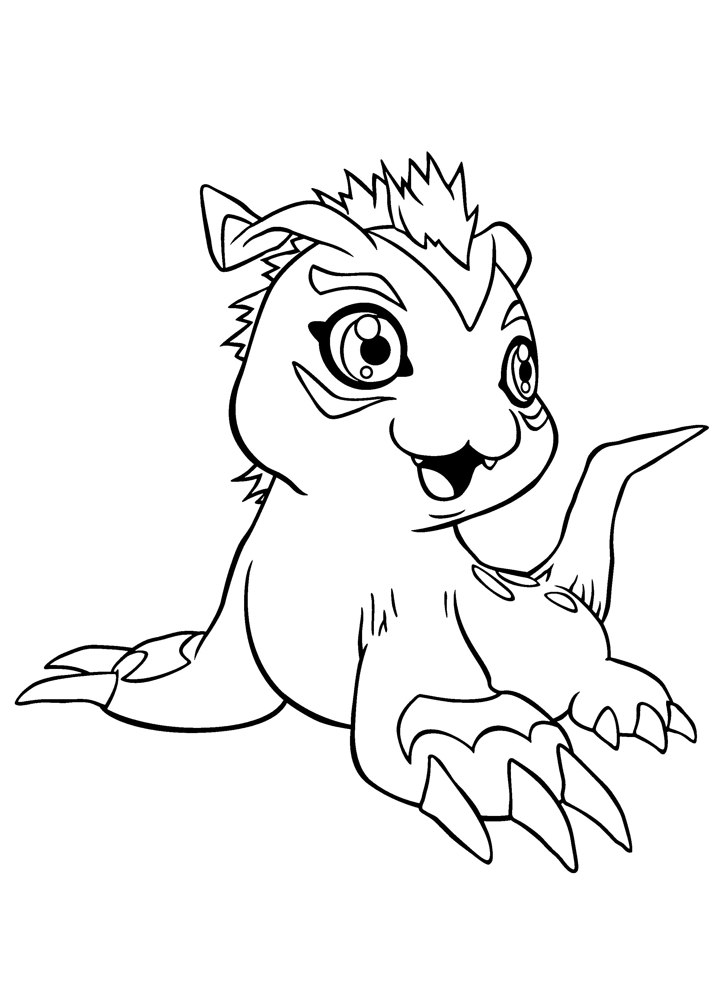 digimon coloring page,printable,coloring pages