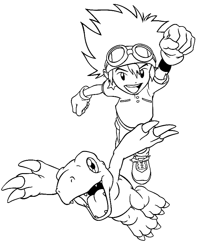 digimon coloring page to print,printable,coloring pages