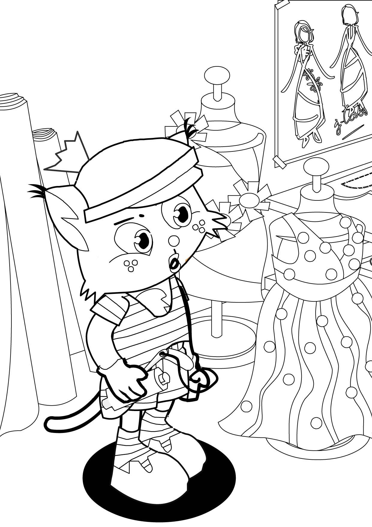 fashion-design coloring pages 14,printable,coloring pages