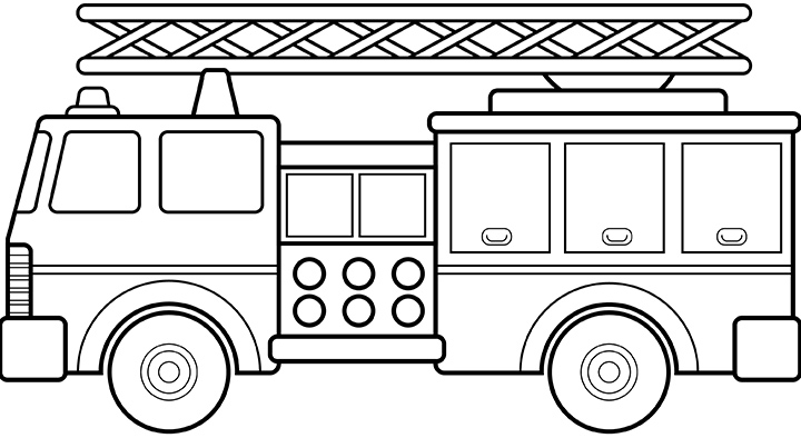 Firefighter Coloring Pages Preschool Boys