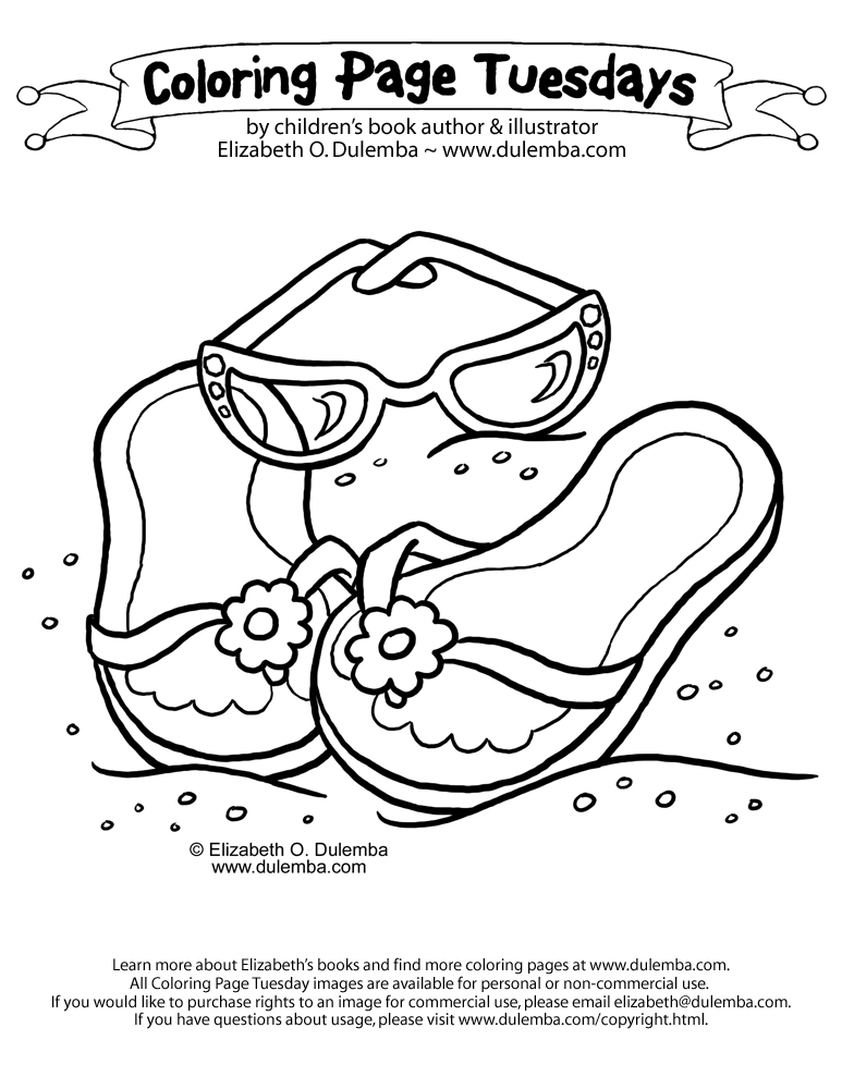 coloring pictures flip-flop,printable,coloring pages