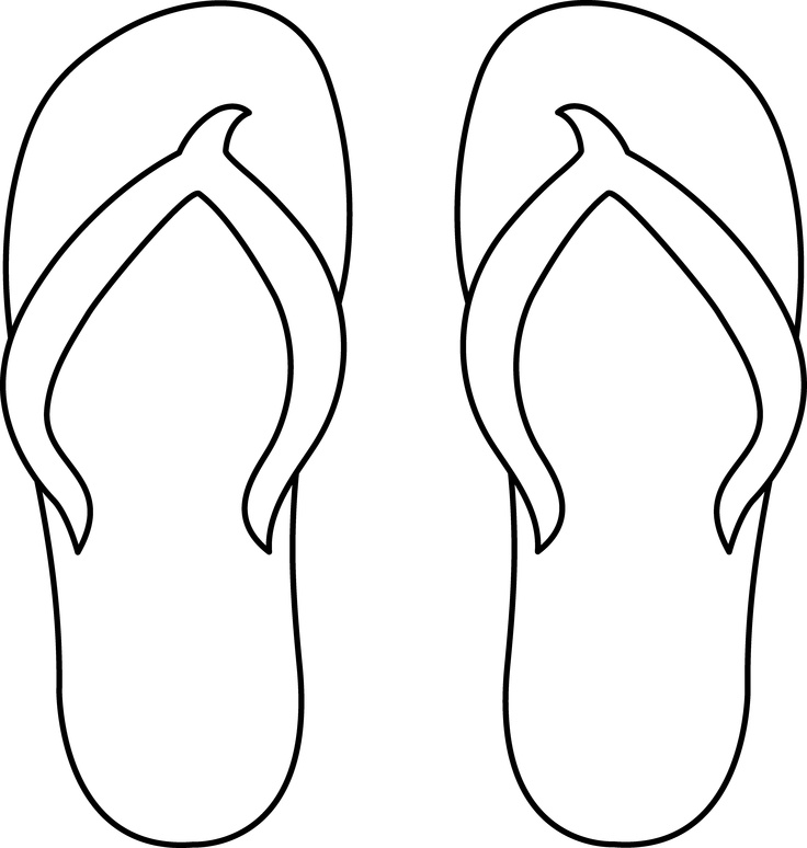 12 Coloring Pages Of Flip Flop