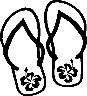 printable pictures of flip-flop page,printable,coloring pages