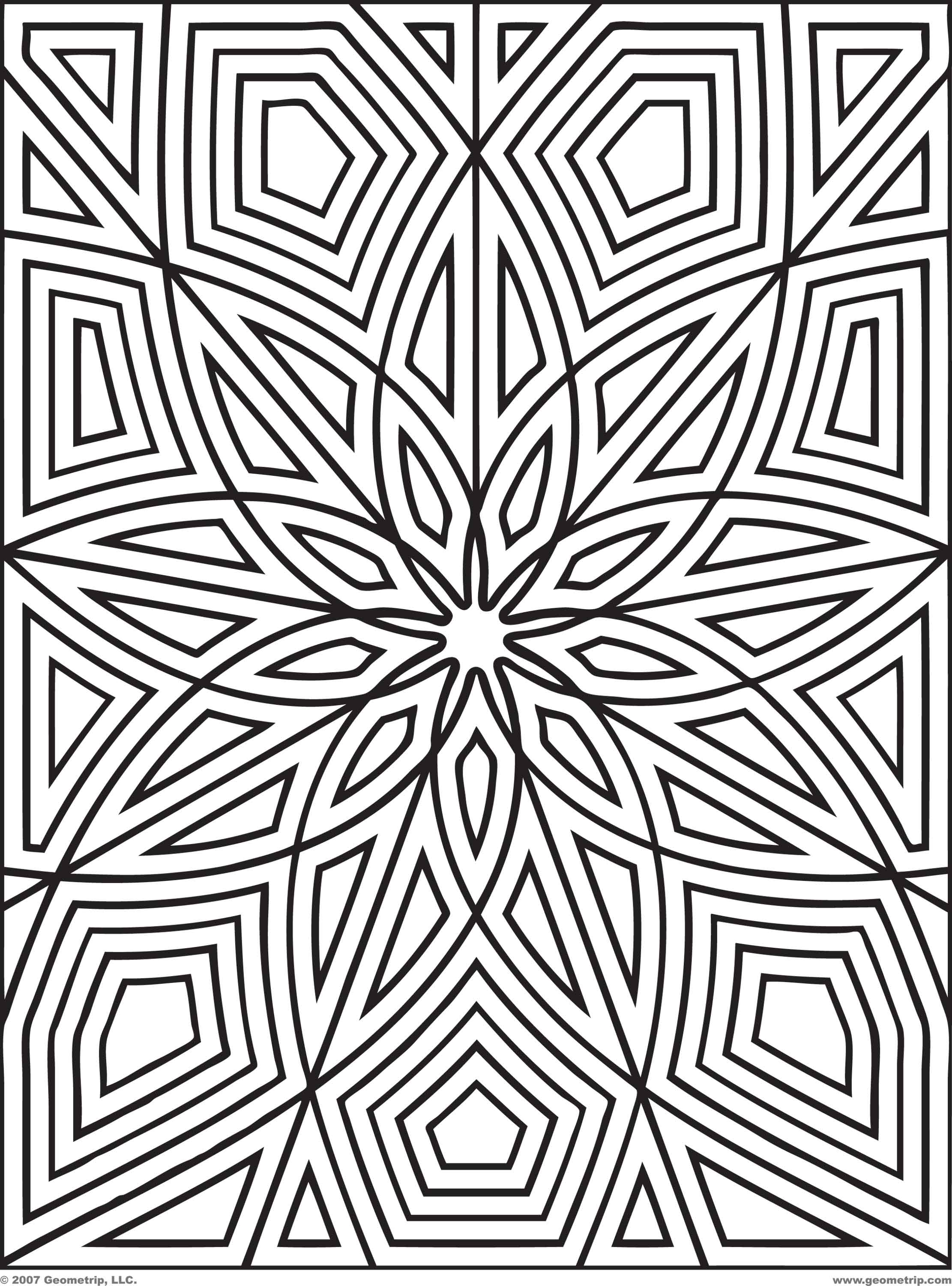 coloring pictures geometric,printable,coloring pages