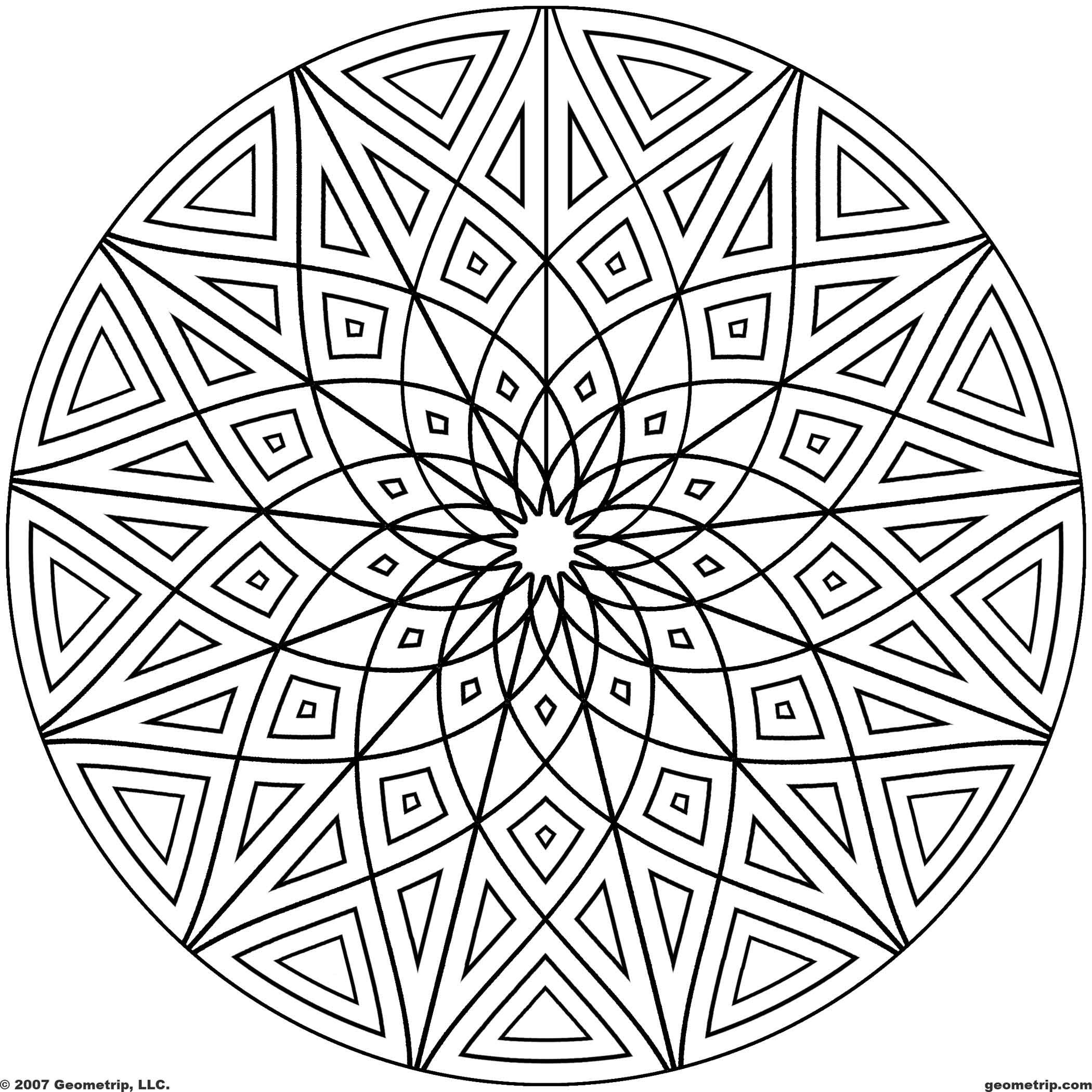 geometric coloring pages 13,printable,coloring pages