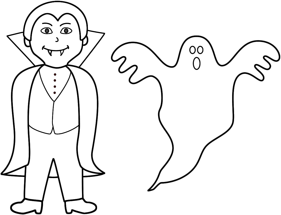 No spooky wooky 26 ghost coloring pages