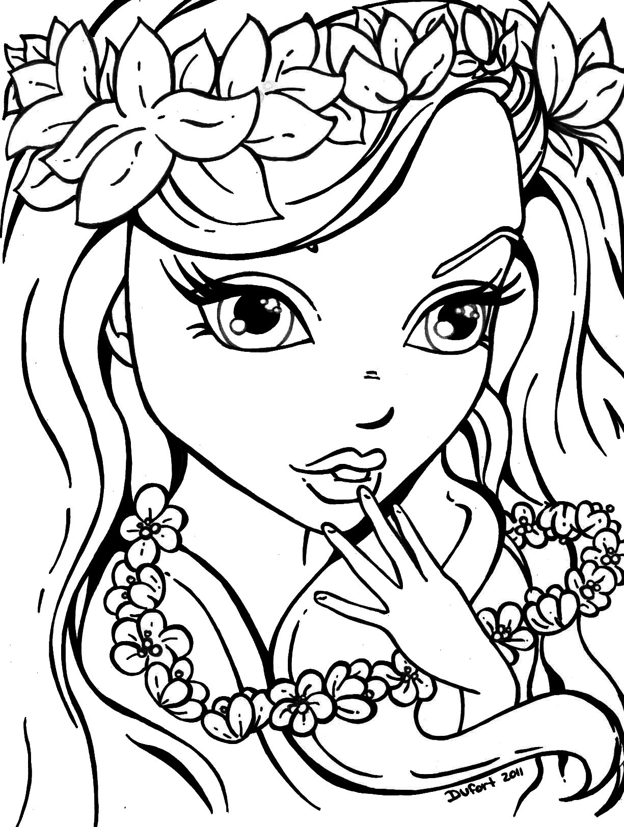23 printable pictures of girls page - Coloring Papges