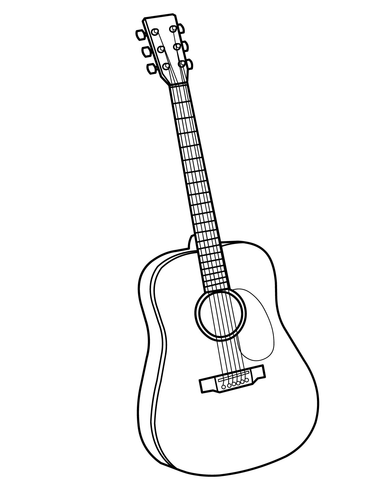 Guitar Coloring Pages Pdf : Guitar coloring pages for kids print color craft