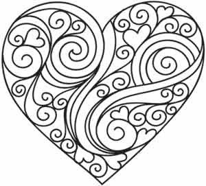 8 heart coloring pages for kids