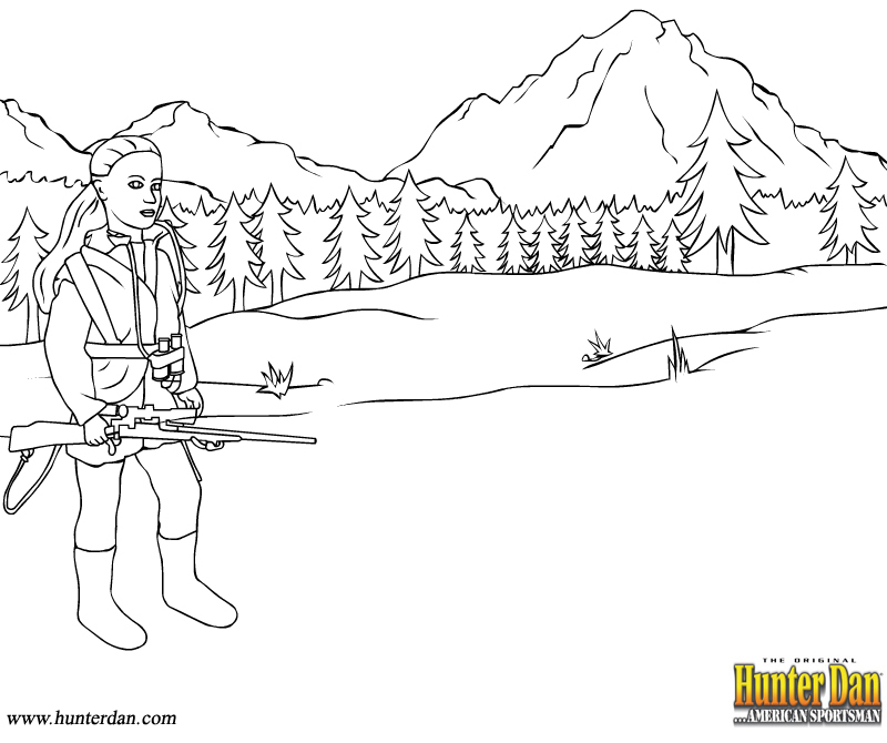 hunting coloring page,printable,coloring pages