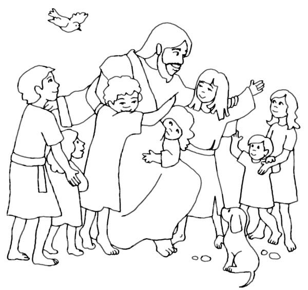 Coloring Pictures Jesusprintablecoloring Pages