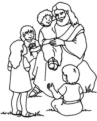 Kids Coloring Pages Jesusprintablecoloring