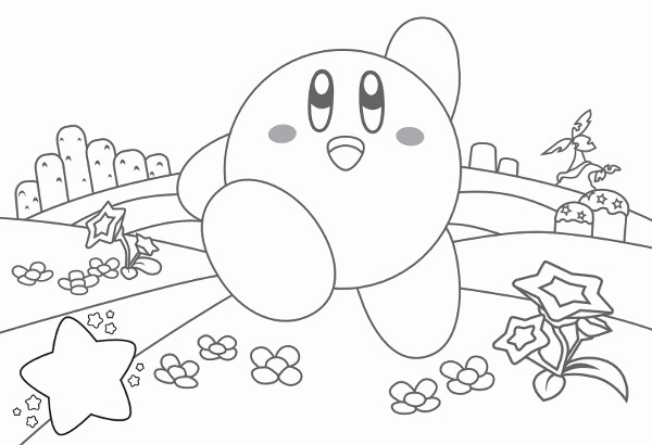 kirby coloring page to print,printable,coloring pages