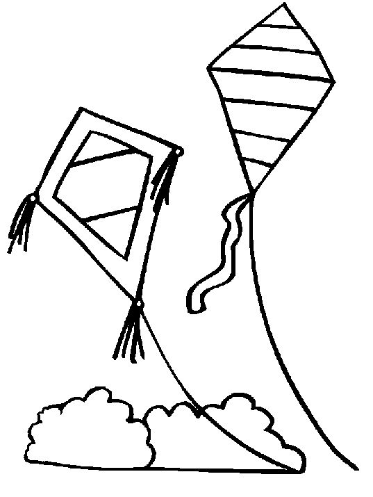 14 kids coloring pages kite - Print Color Craft