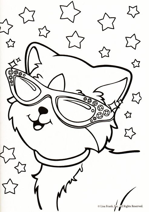 15 lisa frank coloring page