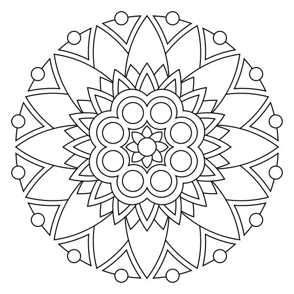 coloring pages of mandala,printable,coloring pages