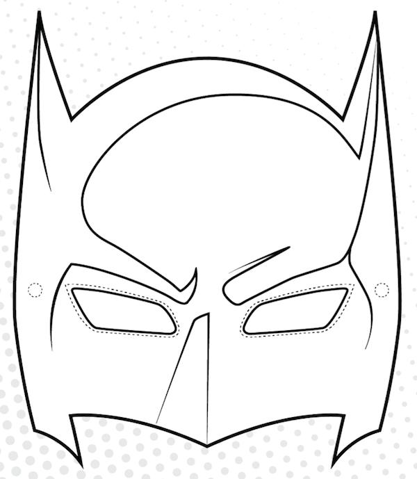 13 Kids Coloring Pages Mask Print Color Craft