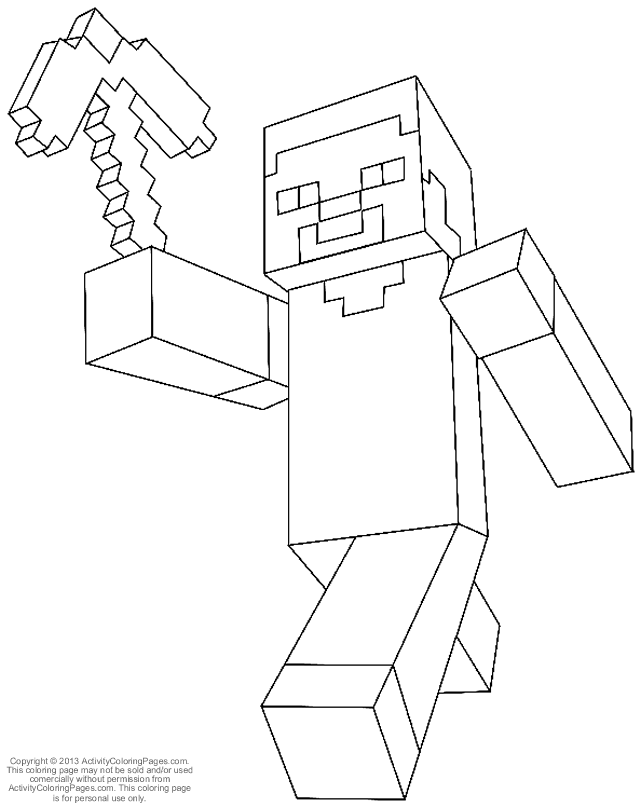 coloring pages of minecraft