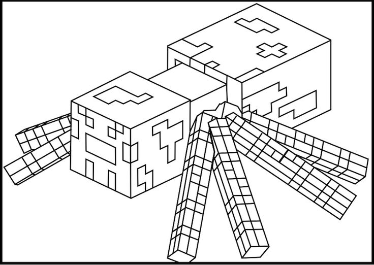 coloring pictures minecraft