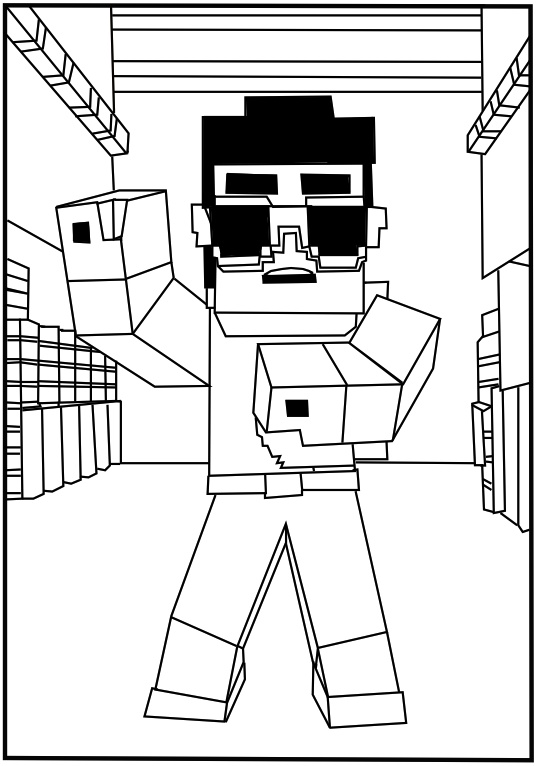 minecraft coloring page,printable,coloring pages