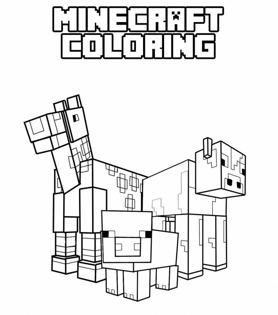 minecraft coloring pages 11