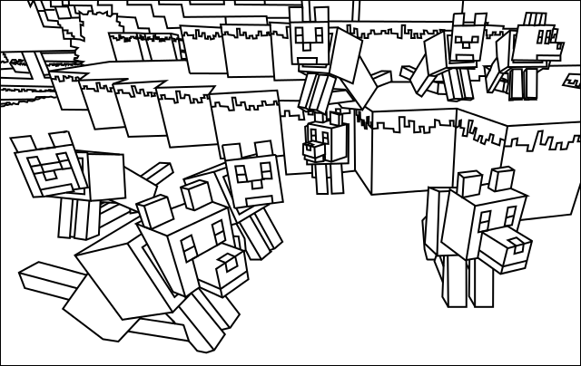 minecraft coloring pages printableprintablecoloring pages