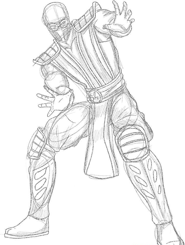 mortal-kombat coloring page to print,printable,coloring pages