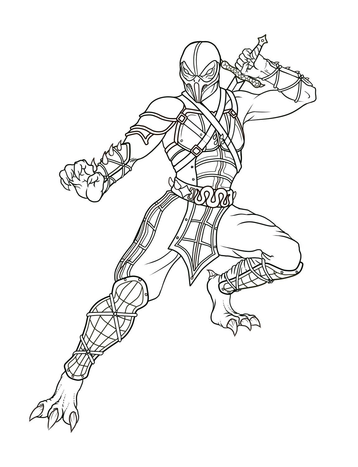mortal-kombat coloring pages,printable,coloring pages