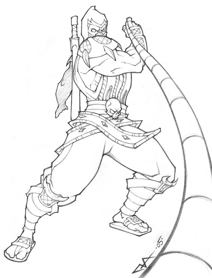 mortal-kombat coloring pages 12,printable,coloring pages