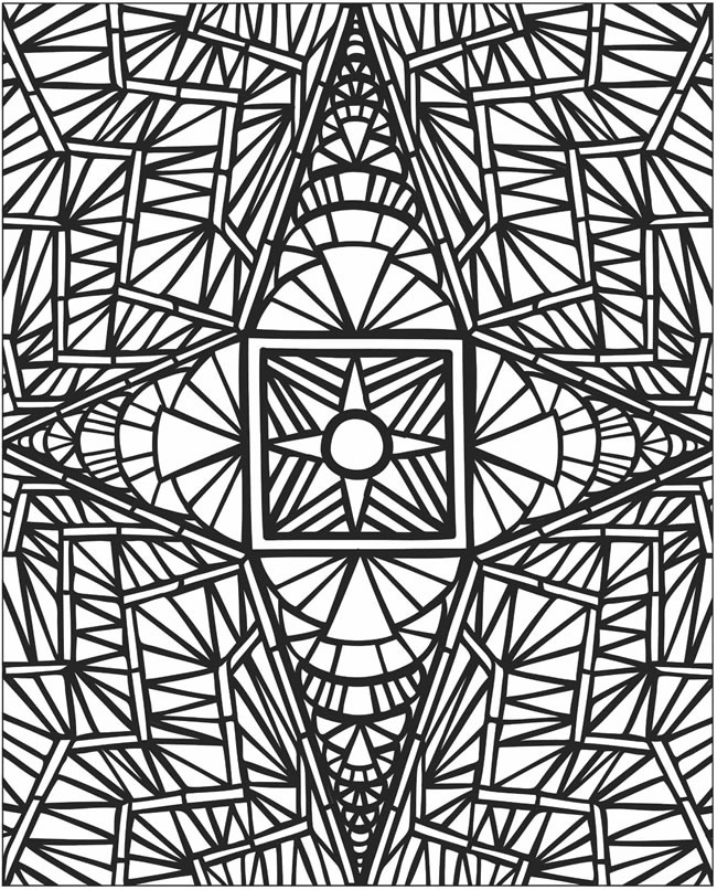 Mosaic Coloring Pages Pdf : Coloring pages of mosaic print color craft