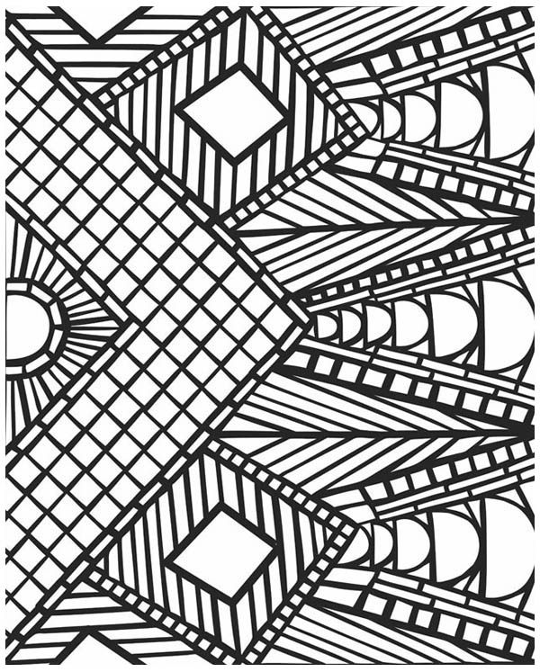 Coloring Pages Printable Mosaic Coloring Pages
