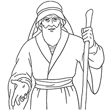 moses coloring page,printable,coloring pages