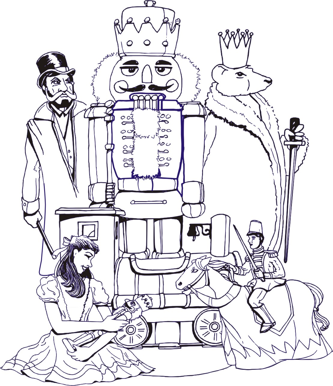 coloring pages of nutcrackers - photo#22