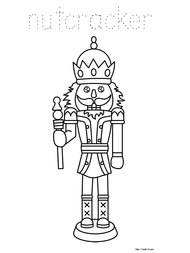 14 nutcracker coloring pages print color craft