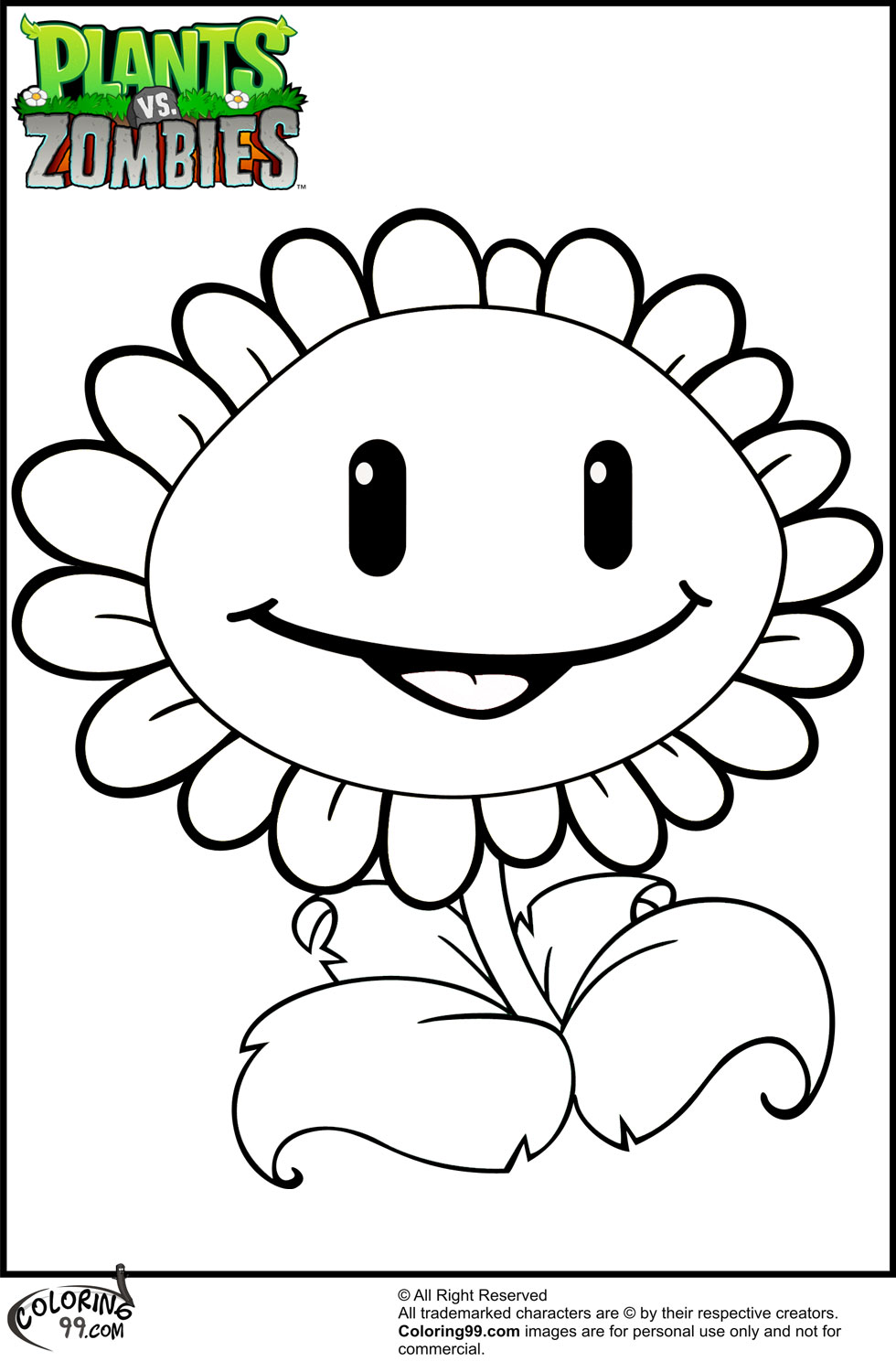 plants-vs-zombies coloring page to print,printable,coloring pages