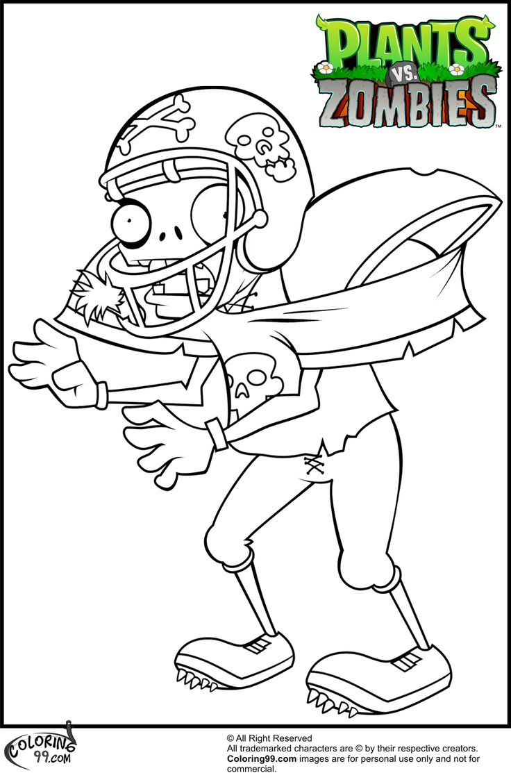 Printable coloring pages zombie - Plants Vs Zombies Coloring Pages 12 Printable Coloring Pages