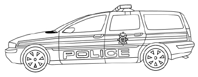 Police Car Coloring Pages | Cars coloring pages, Police cars, Car ... | 156x398