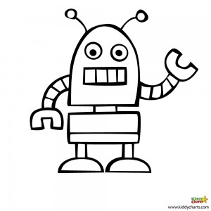 13 coloring pages of robot | Print Color Craft