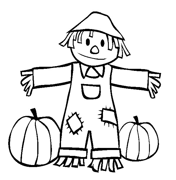 15 printable scarecrow coloring pages print color craft rh printcolorcraft com free halloween coloring pages fall - Fall Coloring Pages Printable