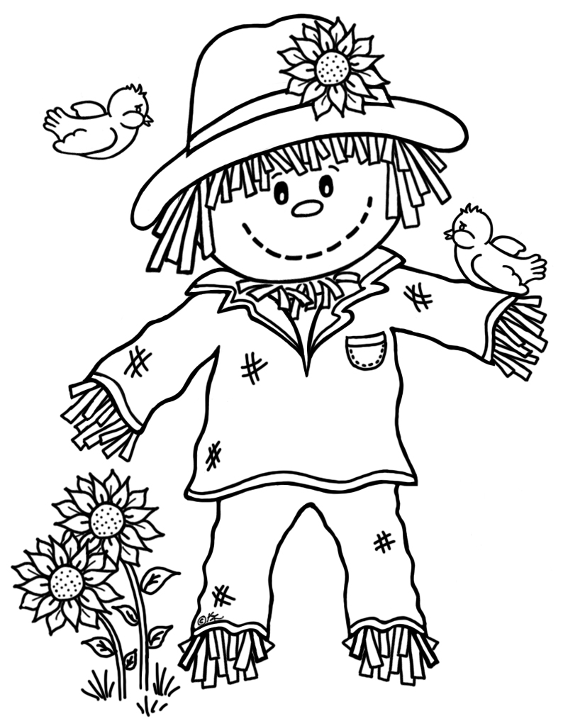 printable scarecrow coloring pages 15 printable scarecrow coloring pages print color craft