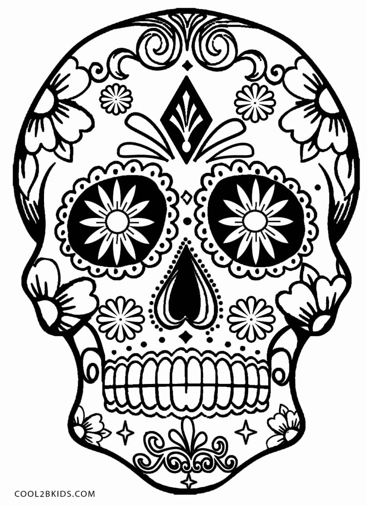 coloring pictures skull,printable,coloring pages